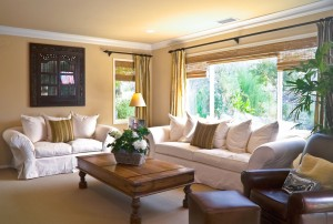 Window Treatment to Highlight Living Room