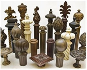 Curtain Finials in different styles