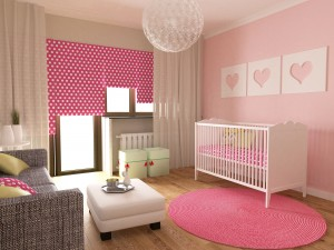 Little girls nursery room